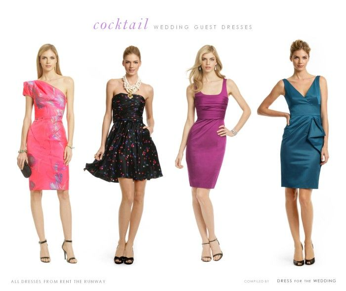 Ideas for cocktail dresses to wear to a wedding! Love the teal one .