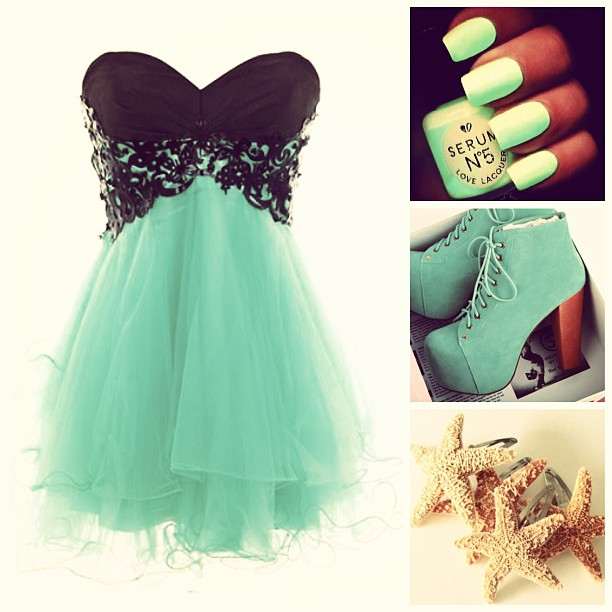 Cute Prom Outfit Ideas: #teal #f4f #likes #tag #live #laugh #love .