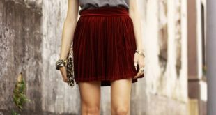 5 Stylish Velvet Outfit Ideas | Velvet skirt, Rocker outfit, Fashi