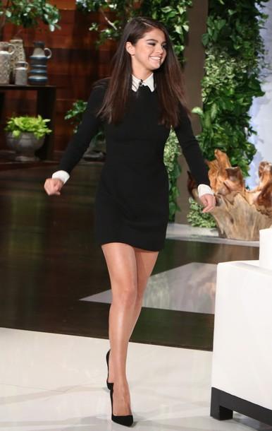 dress, selena gomez, black, little black dress, black dress .