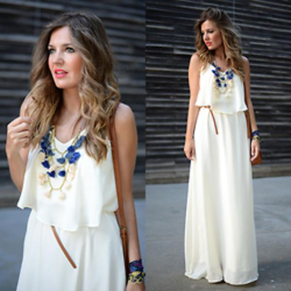 white maxi dress outfit – Just Trendy Gir