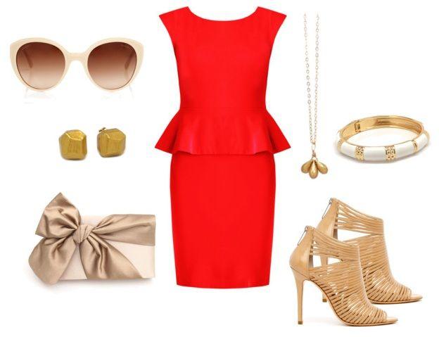 What to Wear with a Peplum Dress | Red peplum dresses, Peplum .