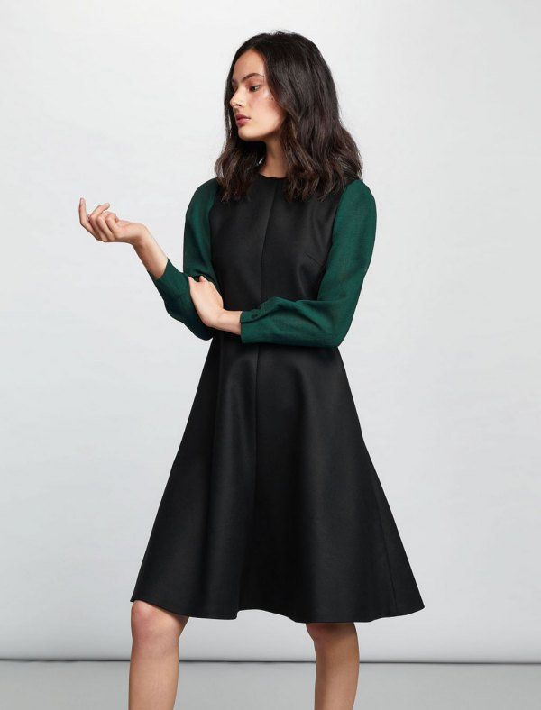 15 Amazing Outfit Ideas on How to Wear Wool Dress - FMag.c