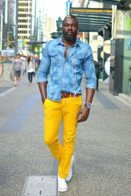 How To Wear Yellow Pants Men 41+ Ideas | Yellow pants outfit .