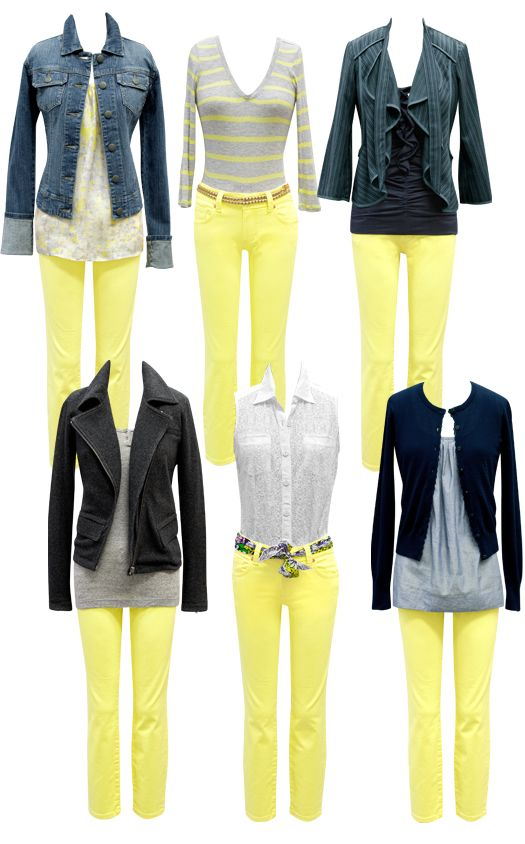 Cropped yellow Bree is so dang cute! | Outfit ideas | Yellow jeans .