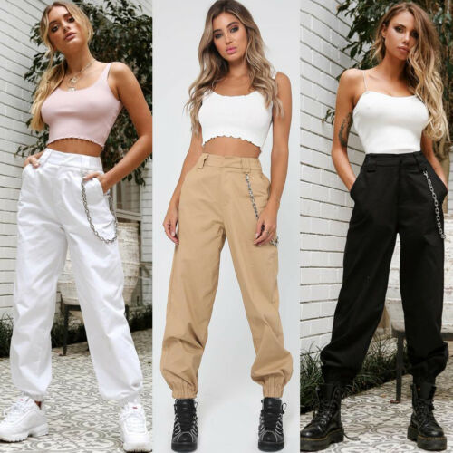 Without chain Women's Fashion Camo Cargo Trousers Pants Military .