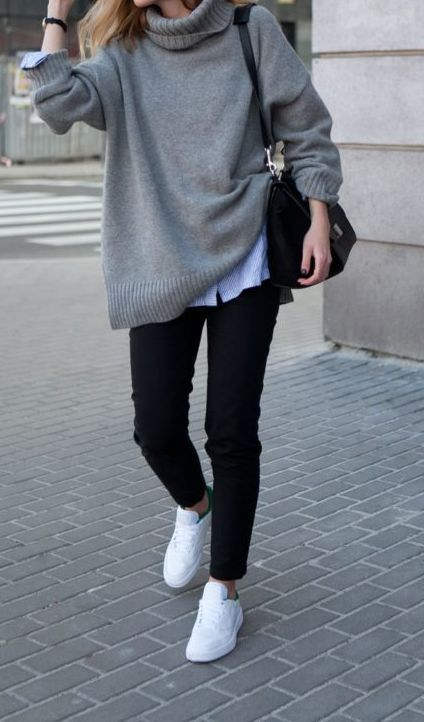 19 Cheap Turtleneck Oversized Sweater Outfit Ideas | Oversized .