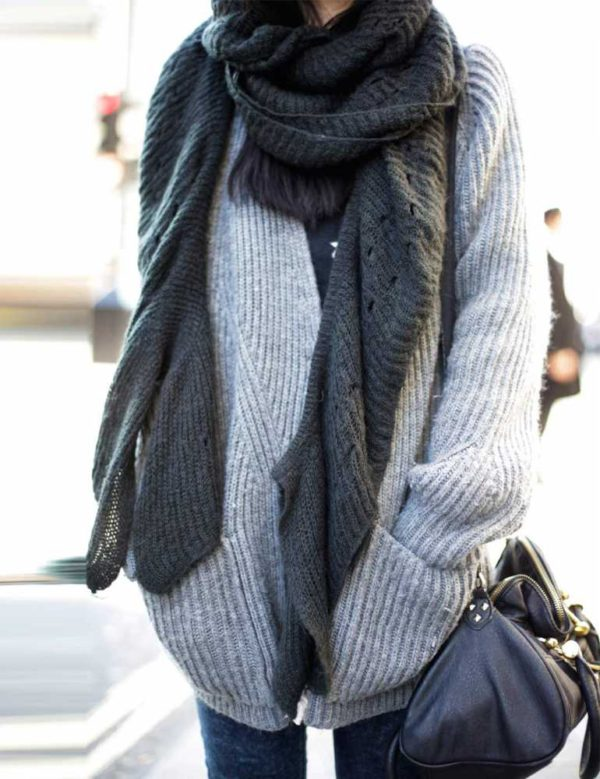 How To Wear The Oversized Scarf Trend | Huge Scarf Outfit Ideas .