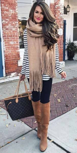 Brushed Long Fringed Scarf | Cute fall outfits, Fashion, Autumn .