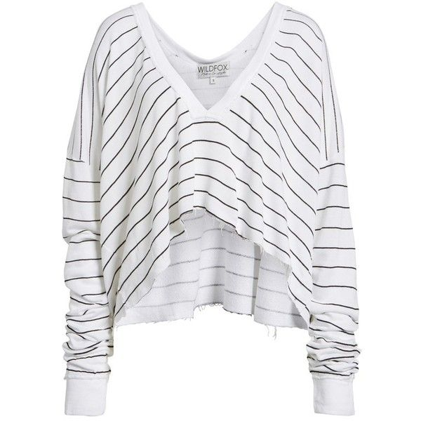 Women's Wildfox Simple Stripe Palmetto Tee ($118) ❤ liked on .