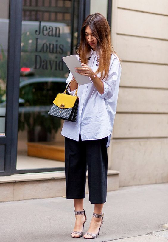 5 Pant Trends and How To Wear Them | White shirt outfits .