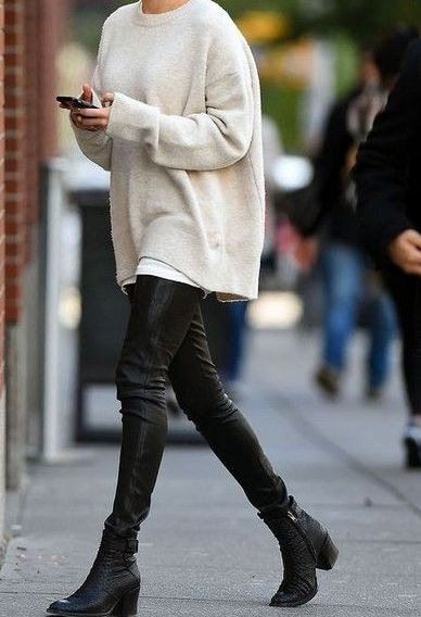23 Cheap Cozy Chunky Oversized Sweater Outfit Ideas for Fall .