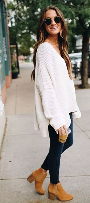 40+ Oversized Sweater winter outfit ideas for women | Fashi