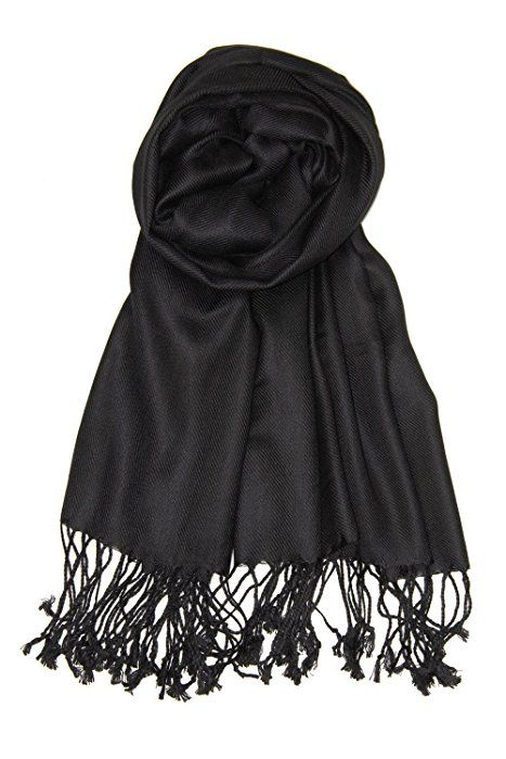 Achillea Large Soft Silky Pashmina Shawl Wrap Scarf in Solid .