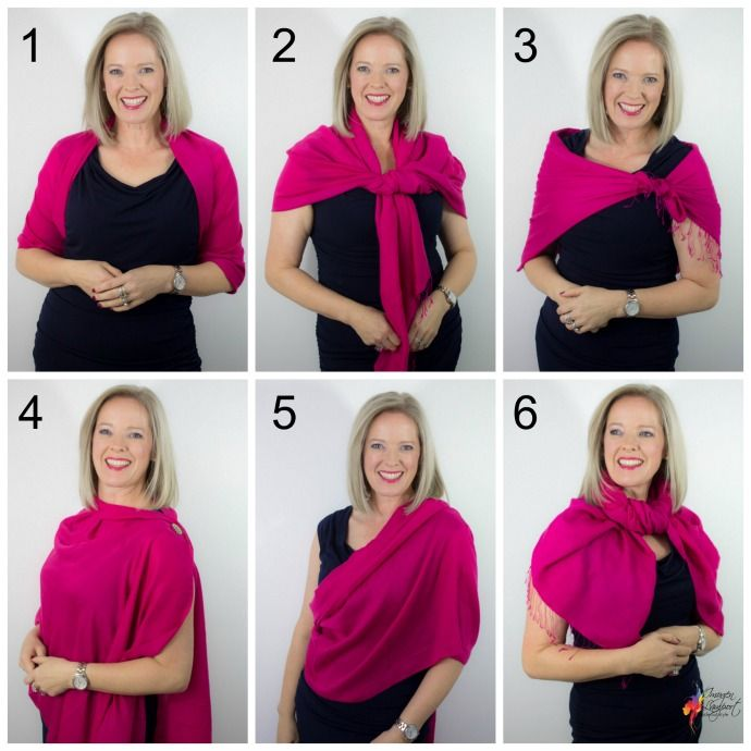 6 Ways to Wear a Pashmina Wrap Over an Evening Dress | Dress with .