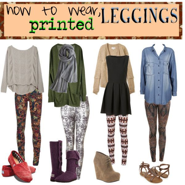 printed leggings are really cute, and in style!!! there are so .