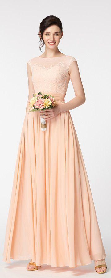 Modest blush color bridesmaid dresses long modest bridesmaid dress .