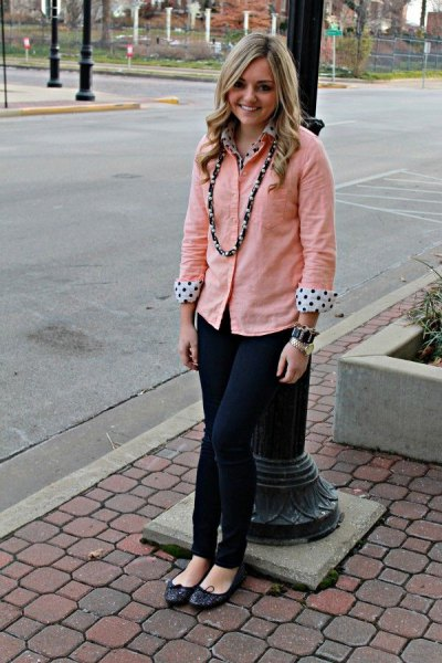 How to Wear Peach Shirt: 15 Lovely Outfit Ideas for Ladies - FMag.c