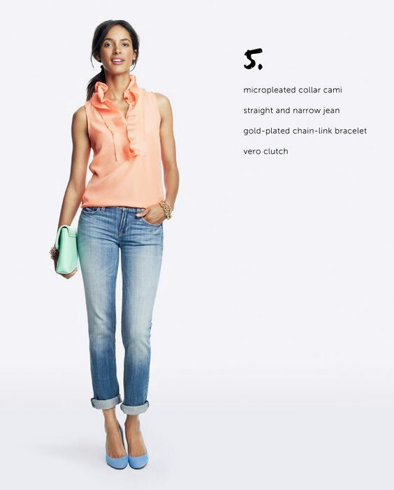Peach shirt outfit | Clothes for women, Clothes, Peach shirt outf