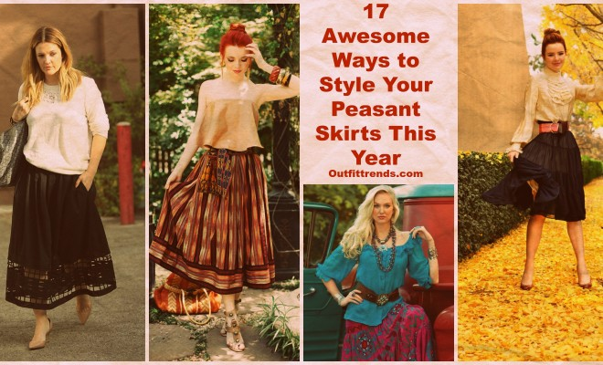 Peasant Skirts Outfits-17 Ways to Wear Peasant Skirts Rightly | Beau
