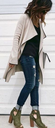 20 Best Peep toe ankle boots images | Autumn fashion, Fall outfits .