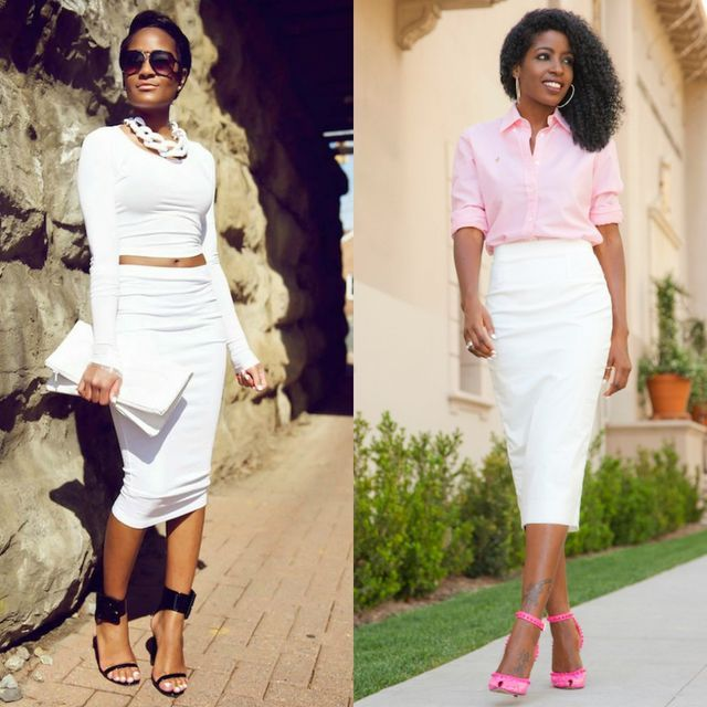 44 Ideas For A Beautiful White Pencil Skirt Outfit | Pencil skirt .