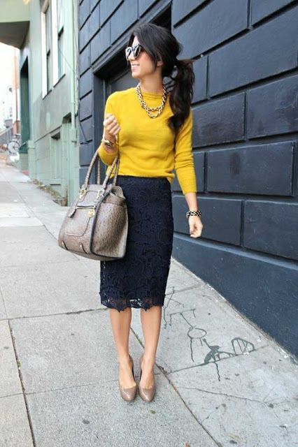Daily Outfit Ideas for Pencil Skirt | Work fashion, Style, Black .