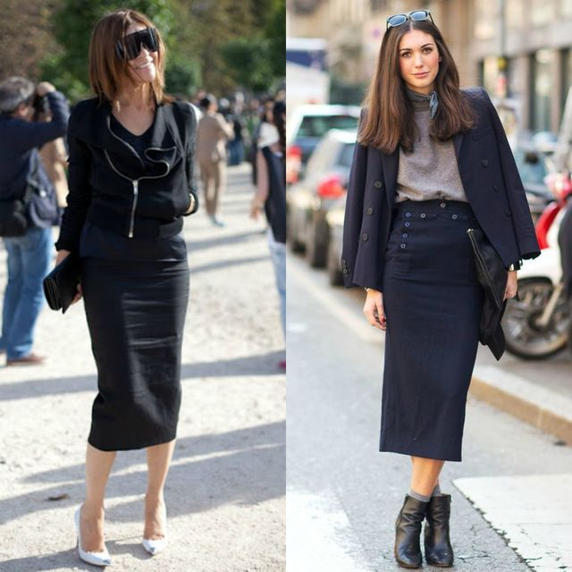 55 Amazing Outfits With Black Pencil Skirts | Pencil skirt black .