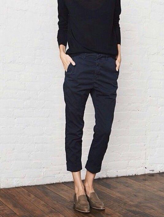 37 Ways To Style Cropped Black Pants | Fashion, Style, Minimalist .