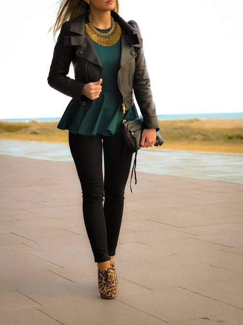 How to Wear Peplum Tops in Winter - 20 Peplum Outfit Ide