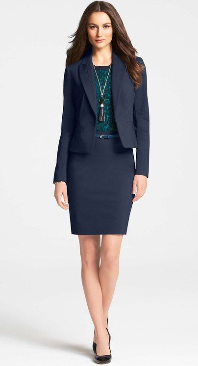 Ann Taylor Peplum Jacket, Top, and Ankle Pants. Corporate career .