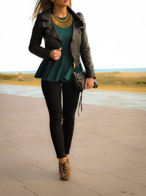 How to Wear Peplum Blazer: 15 Chic & Smart Outfit Ideas for Ladies .