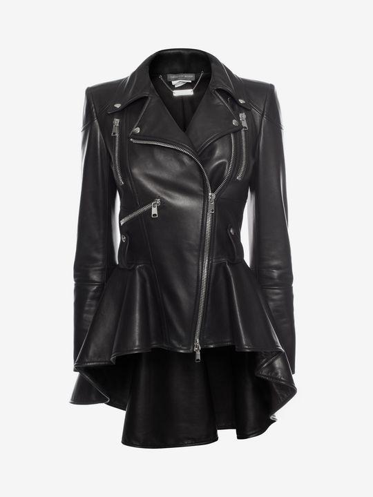 Leather Biker Jacket Leather Biker Jacket in 2020 | Black leather .