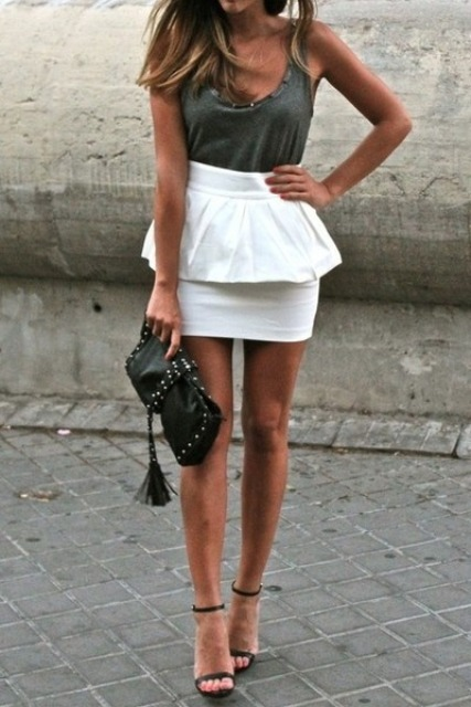 23 Charming Peplum Skirt Outfits - Styleohol