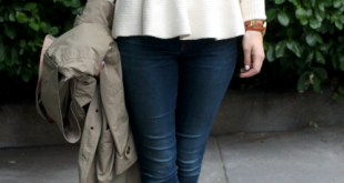 pretty much the greatest peplum sweater on the planet   Fashi