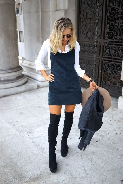20 Outfits With Pinafore Dresses - Styleohol