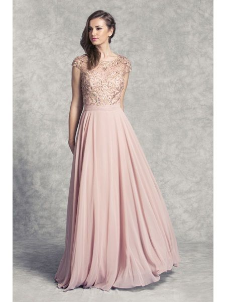 This elegant Bridesmaid dress comes in Dusty Rose, Gold, and sizes .