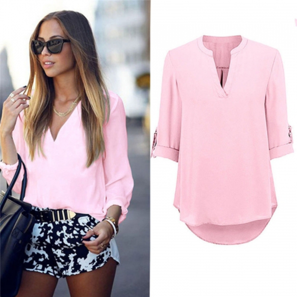 shirt, casual, loose, long sleeves, top, pink, fashion, ootd .