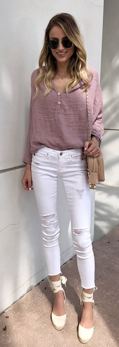 231 Best Pink Blouses images in 2020 | Fashion, Clothes, Sty