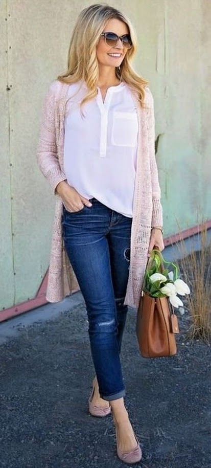Outfit inspiration with cardigans ~ 30 something Urban Gi