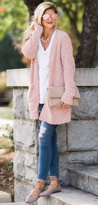45+ Chic Cardigan Outfits You Can't Go Wrong With | Casual winter .