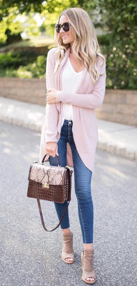 light pink cardigan | Ropa, Valenti