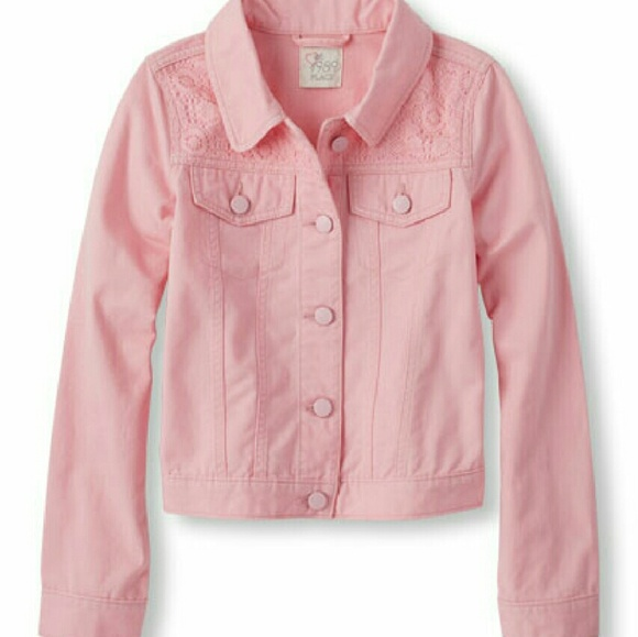 The Childrens place Jackets & Coats | Pink Denim Jacket For Girls .