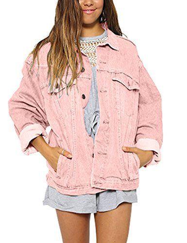 Women's Pink Boyfriend Denim Jacket | Fall fashion leggin