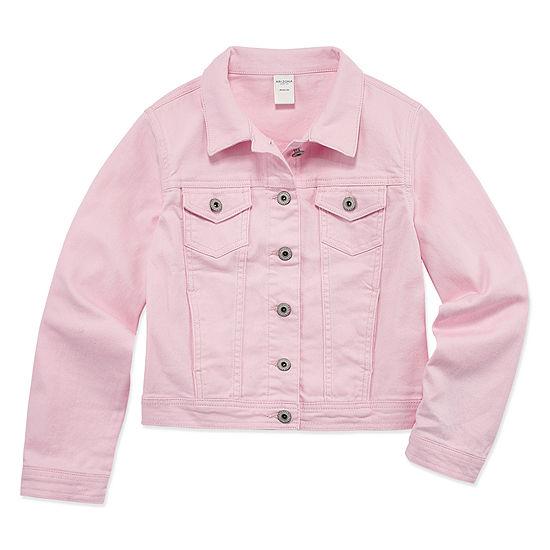 Arizona Pink Denim Jacket - Girls' 4-16 & Pl