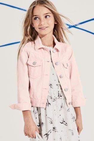 Girls Next Pink Denim Jacket (3-12yrs) - Pink {affiliate link .