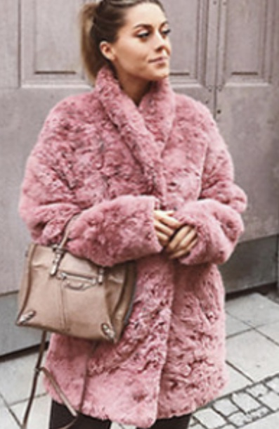 coat, faux fur jacket, pink, faux fur - Wheretog