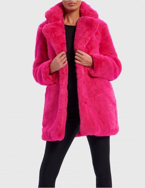 Hot Pink Faux Fur Jacket | Pink faux fur coat, Pink faux fur, Pink .