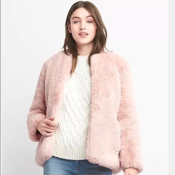 GAP Jackets & Coats | Pink Faux Fur Jacket | Poshma