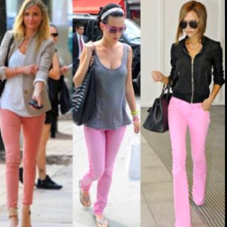 Pink jeans outfit ideas | Pink skinny jeans, Pink jeans outfit .